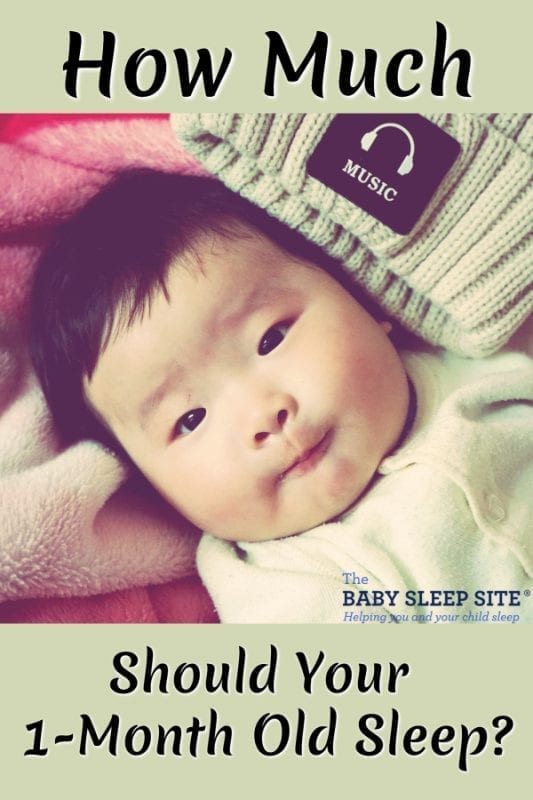 How Much Should 1 Month Old Baby Sleep